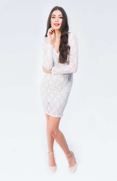 Kenzie White Lace Dress