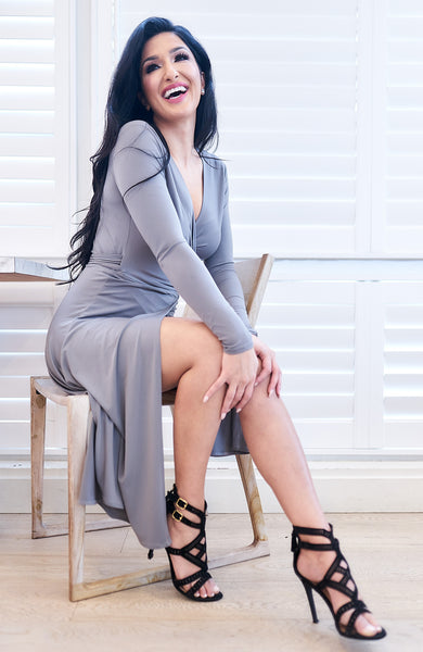 Kiara Dove Grey Dress