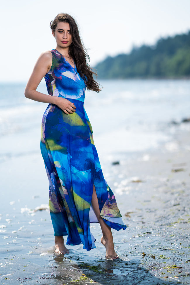 Kaur Honolulu Blue Dress