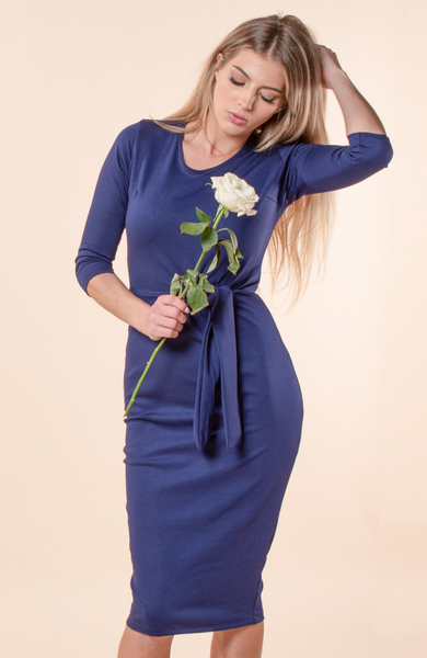Saint Germaine Sapphire  Tie Dress