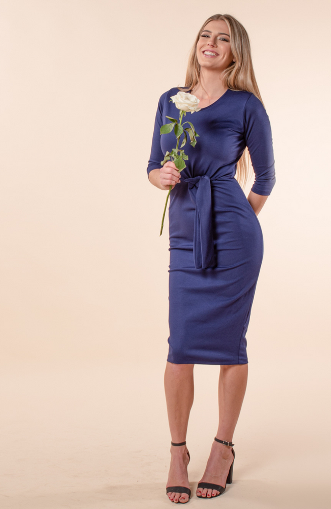 Saint Germaine Royal Navy Tie Dress