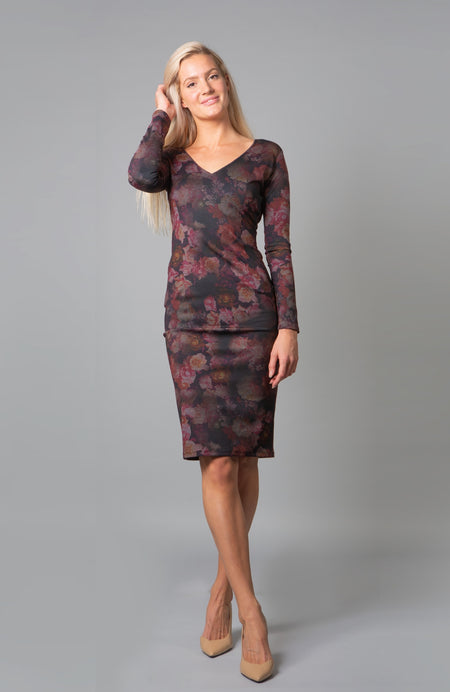 Kaia Red Wrap Dress