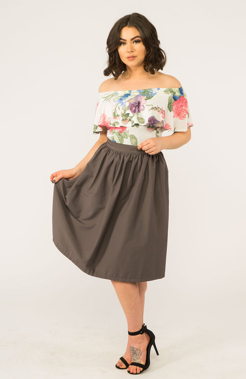 Bella Charcoal Skirt