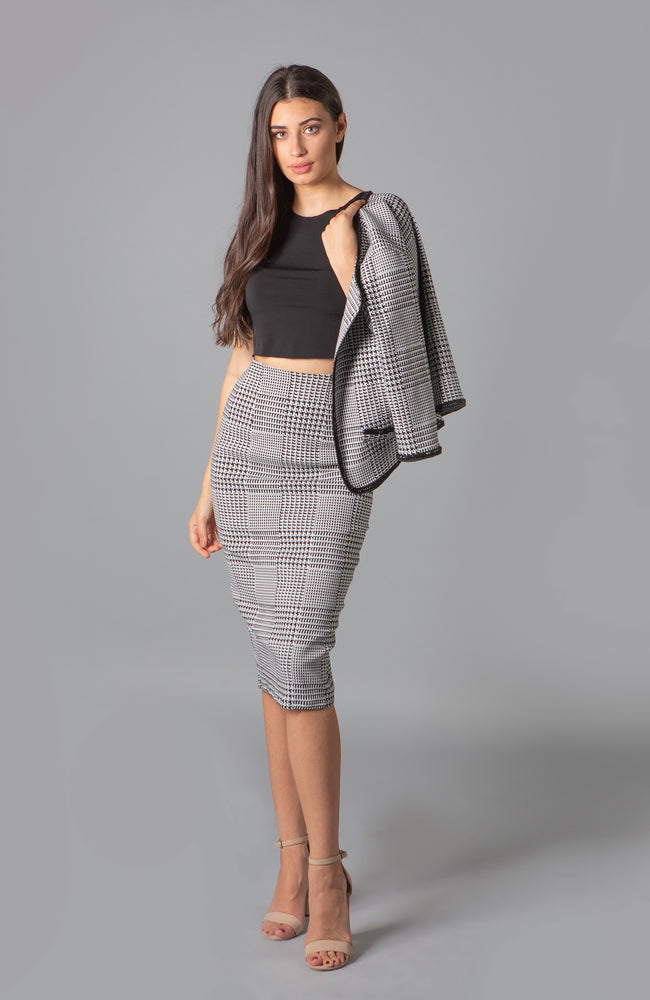 Coco Plaid Cropped Jacket