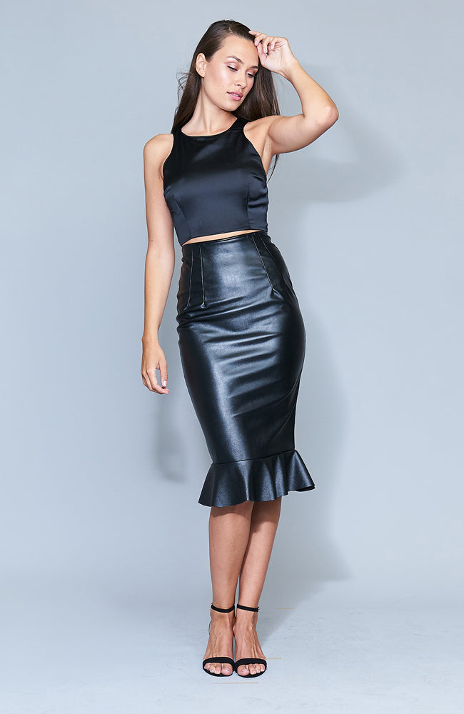 Blaze Leather Skirt