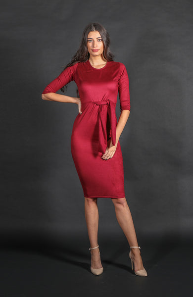 Saint Germaine Sangria Tie Dress