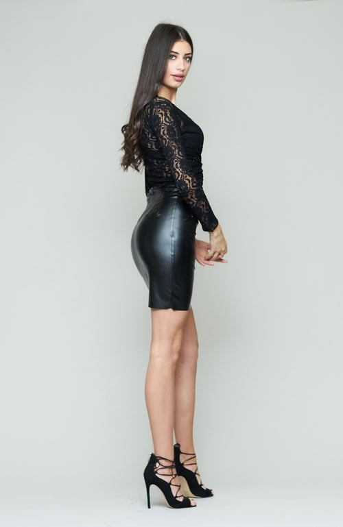 Bianca Leather Skirt