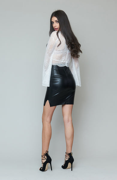 Bianca Vegan Leather Skirt