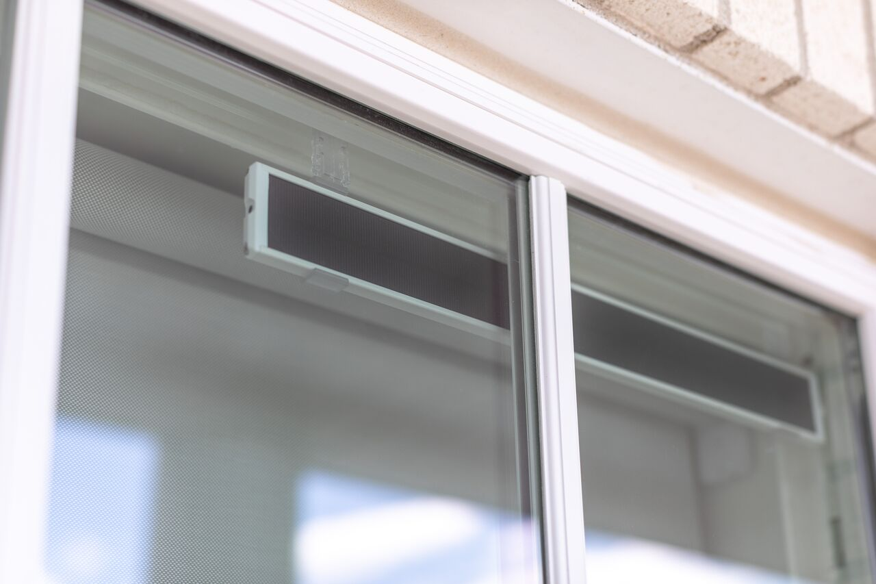 Solar Panel Blinds in Window