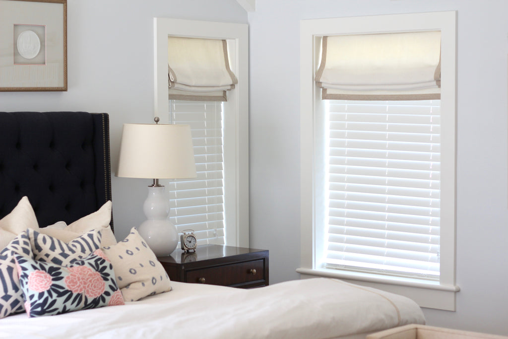 Bedroom with valances