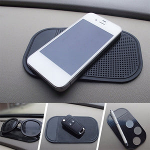 Black/White Anti-Slip Car Dash Sticky Gel Pad Non-Slip Universal Mount Holder Mat Washable Silicone Gel Pad Car Accessories Hot