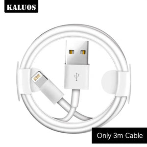 Kit 1m 2m 3m USB Charging Cable + EU Plug USB Charger for iPhone 6 6S 7 8 Plus X XS MAX XR 5 5S 5C SE Phone Wall Chargers Cables