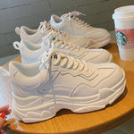 Warm Women Shoes 2019 New Chunky Sneakers For Women White Vulcanize Shoes Casual Fashion Dad Shoes Platform Sneakers Basket
