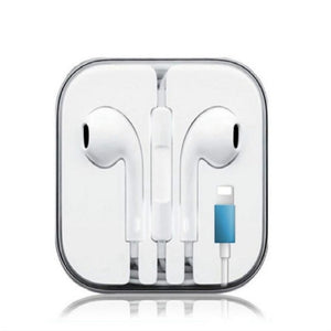 For Apple Iphone 7 In Ear Stereo Headphones With Microphone Wired Blue Blueberry Shine