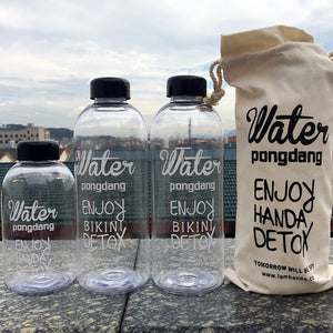 500ml/1000ml Bicycle Water Bottle Holder Plastic Clear Bottle Bag Water Bottle Holder Canvas Bag Sport Sack Drinking Bottle