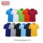 YOTEE 2019 summer cheap casual short-sleeved polo suit personal company group LOGO custom POLO shirt cotton men and women custom