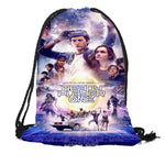 New Ready Player One Printing Backpack Travel Beach School Multi-function Drawstring Bag Custom You Image