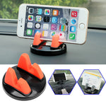 Car Ornament Universal Phone Holder 360 Degree Rotation PC + Silicone Car Accessory Dashboard Decoration For GPS Holder Phone