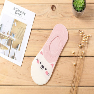 1 Pair Fashion Women Girls ECMLN Summer Socks Style Lace Flower Short Sock Antiskid Invisible Ankle Socks 2019 Sox