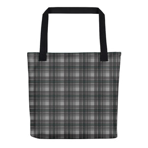 Mad About Plaid Tote in Black and Grey
