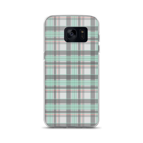 Mad About Plaid Seafoam Samsung Phone Case