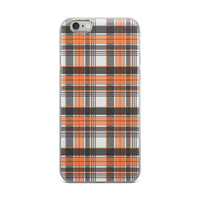 Mad About Plaid Orange iPhone Case