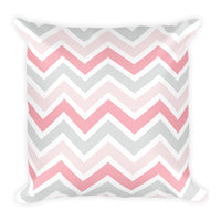 Petal Pink Chevron Pillow