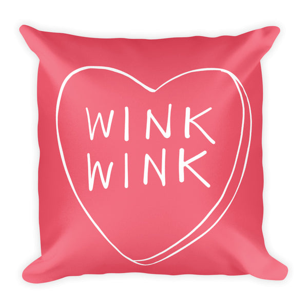 Wink Wink Candy Hearts Pillow