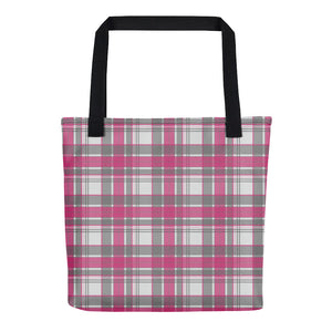 Mad About Plaid Tote in Pink