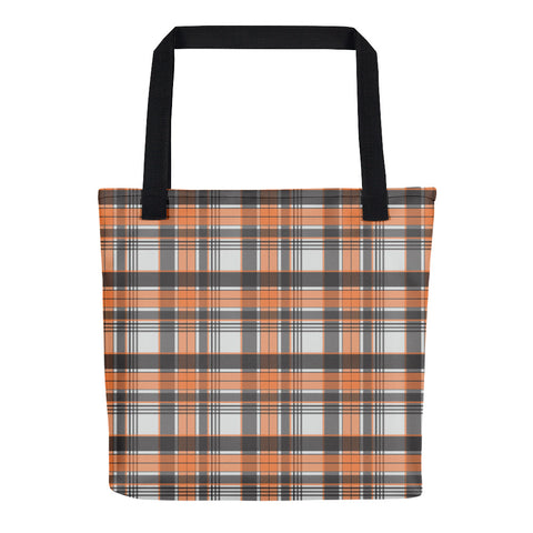 Mad About Plaid Tote in Orange