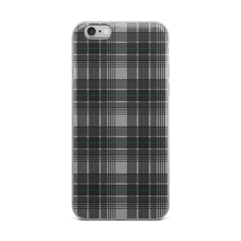 Mad About Plaid Grey iPhone Case