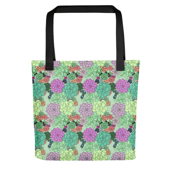 Retro Succulents Tote Bag