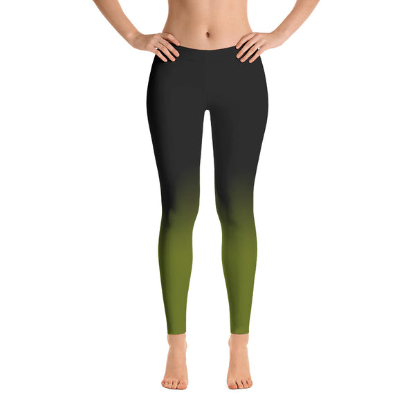 Fade to Black Leggings in Green