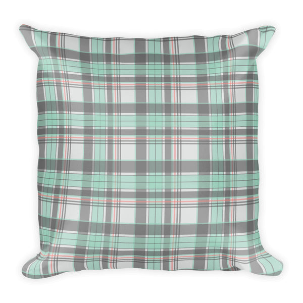 Mad About Plaid Pillow in Seafoam