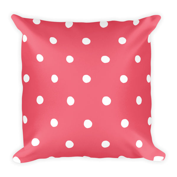 Petal Pink Poka Dots Pillow
