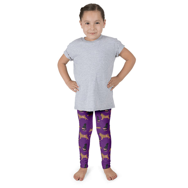 Shar Pei Ballet Leggings for Kids in Purple