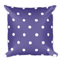 Ultra Violet Poka Dots Pillow