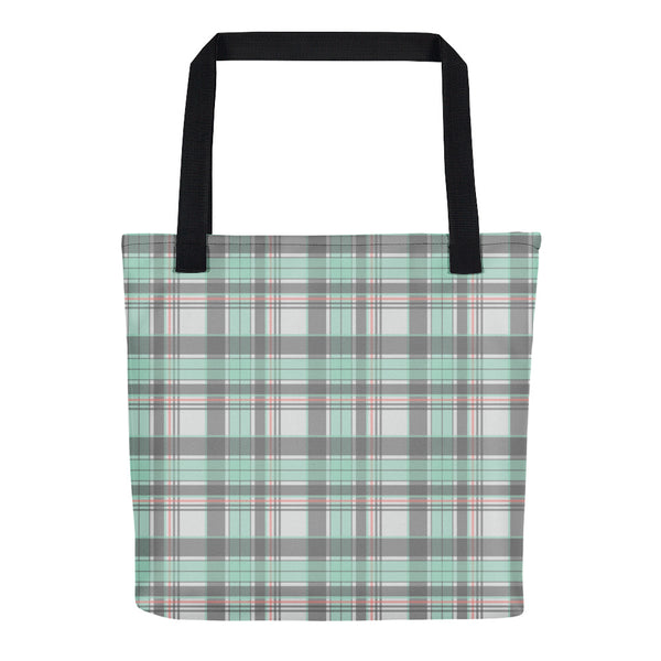 Mad About Plaid Tote in Seafoam