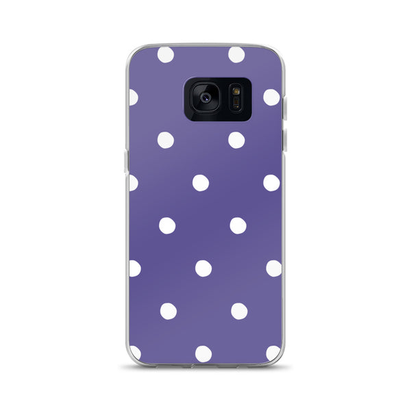 Ultra Violet Poka Dots Samsung Phone Case