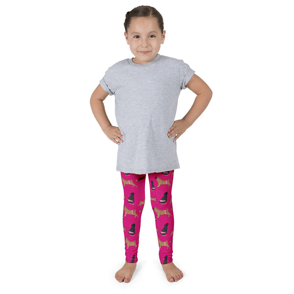 Shar Pei Ballet Leggings for Kids in Pink