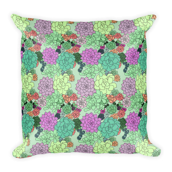 Retro Succulents Pillow