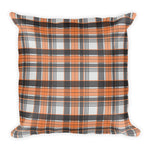 Mad About Plaid Pillow in Orange