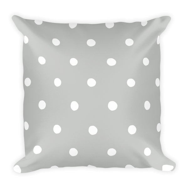 Cloud Grey Poka Dots Pillow