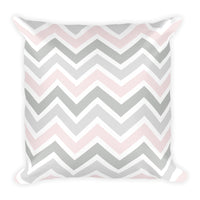 Petal Pink Plaid Pillow