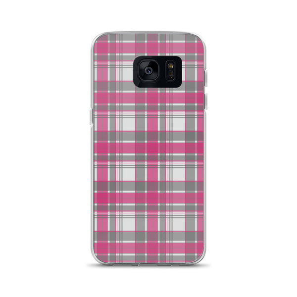 Mad About Plaid Pink Samsung Phone Case