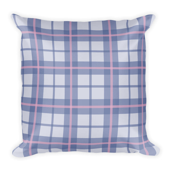 Ultra Violet Plaid Pillow
