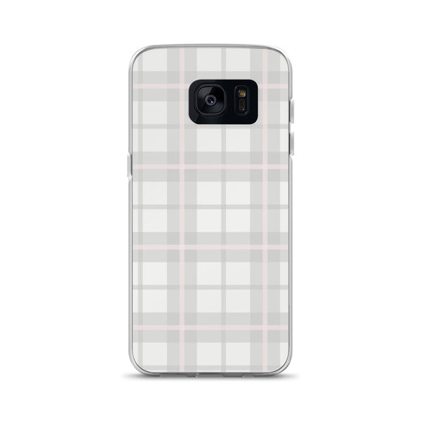 Ballet Pink Plaid Samsung Phone Case