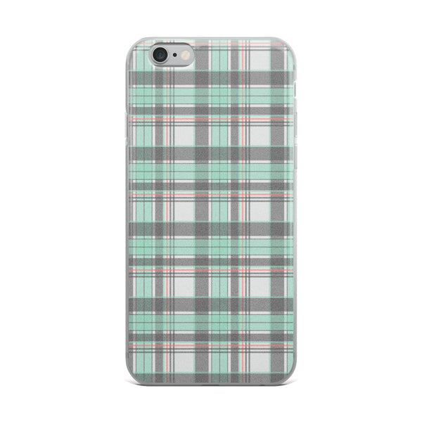 Mad About Plaid Seafoam iPhone Case