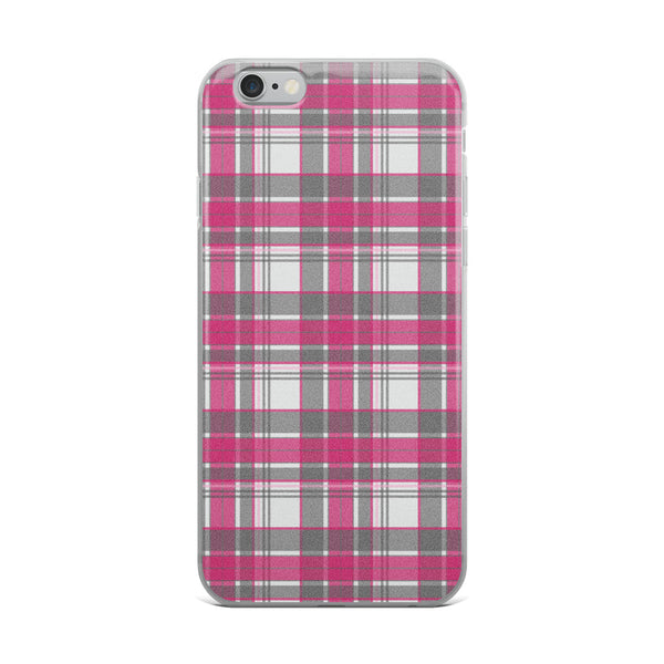 Mad About Plaid Pink iPhone Case