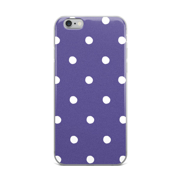 Ultra Violet Poka Dots iPhone Case